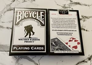 Bicycle WOUNDED WARRIOR PROJECT playing cards Decks SEALED