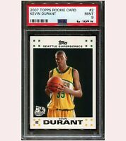 KEVIN DURANT 2007 TOPPS #2 RC ROOKIE CARD SUPERSONICS NETS PSA 9 MINT $800+ QTY