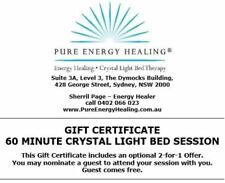 60 Minute Crystal Light Bed Session GIFT CERTIFICATE INCLUDES BONUS 2FOR1 OFFER