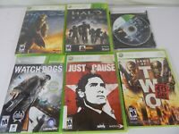 Lot of 6 Xbox 360 Video Games Includes Halo Reach and More Games