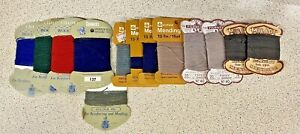Mending Yarn-Thread-Wool-Lot 14x Cards-Collectibles Sewing-Vintage/Retro