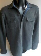TAILOR VINTAGE Men's Warm Lined Button Down Shirt LARGE Gray