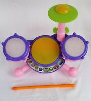 VTech Kidi Beats Drum Set Learning Toy Lights Up With Drum Sounds