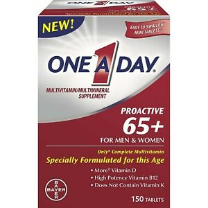One A Day Proactive 65 Plus Multivitamin/Multimineral, 150 Ct - Men & Women 65+