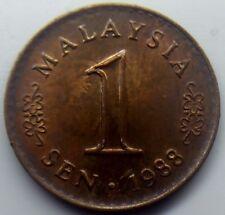 Malaysia 1 Sen 1988 Error Die Clash