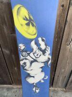 Vintage Classic Burton Freedom 51 Snowboard Rare, W/ Broken Freestyle Bindings