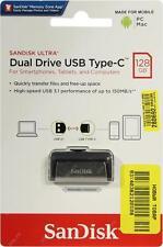 SanDisk 128GB Ultra Dual Drive USB Type-C Flash Drive (Silver / Black)