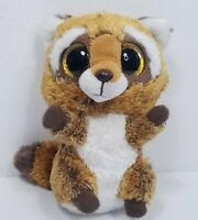 "TY Beanie Boos 6"" Rusty Raccoon Boo Sparkly Glitter Eyes Gold Plush Stuffed"