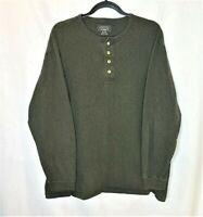 Pendleton Deschutes Henley Long Sleeve Men Size XLarge Dark Green 100% Cotton