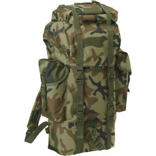 Brandit BW Combat Backpack Military Hunting 65L Tactical Rucksack Woodland Camo