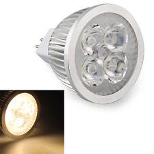 5x(MR16 HIGH POWER 4 LED Strahler Spotlicht 3600K Birne Lampe warmweiss GY