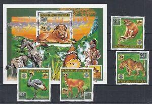 Niger 1181 - 84+ Block 85 Animals (MNH)