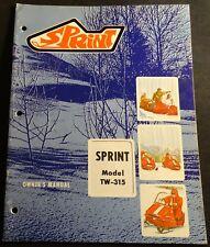 VINTAGE 1970 BOLENS SPRINT SNOWMOBILE OWNERS MANUAL TW-315 (713)