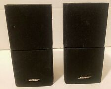 Pair Genuine BOSE Double Cube Speakers Lifestyle Satellite Black OEM