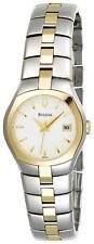 Bulova 98M101 White Dial Date Two Tone Womens Dress Watch