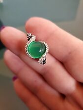 GENUINE Green Onyx, Blue Sapphire, Topaz, Spinel 925 Silver Pendant Only NWOT
