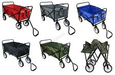 BIRCHTREE Foldable Garden Trolley Wheelbarrow Trailer Hand Cart Wagon GTF01
