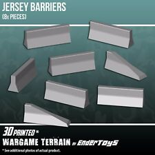 Jersey Barriers, Tabletop 28mm Miniatures Wargame, 3D Printed and Paintable