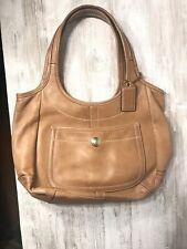 Coach Tan Leather Hobo purse Beige Brown Shoulder Bag