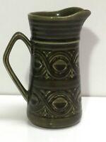 Vintage Saxony Ellgreave milk jug, creamer, green