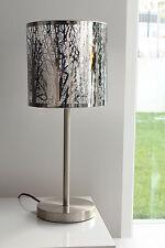 Tischleuchte, modern, Natur, Edelstahl gebürstet, silbern, E 27, H48cm, NEU