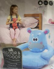 Indoor Outdoor Hippo Inflatable Chair Fun Character Design Bedroom Campin Garden
