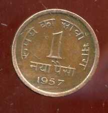 India 1 naya paisa 1957 (bis)