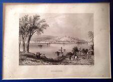 SERBIA, BELGRADO, BELGRADE,  grabado original del siglo XIX