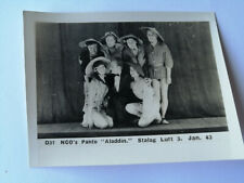 Original WW2 prisoner of War photo NCO's Panto ALADDIN SHOW stalag luft 3 D31