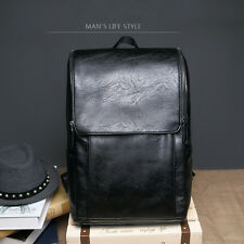 Men's Vintage Leather Backpack Rucksack Laptop Travel School Bookback Bags New