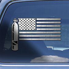 USA Scuba Diver Flag Decal Sticker - ocean diving fins tank window decal sticker