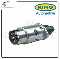 Ring Towbar Towing Caravan 7 Pin Metal 12S Trailer Plug A0023