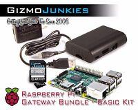 Raspberry Pi 3 Gateway Bundle Starter Kit w/ Power Supply, NOOBs Card, Enclosure