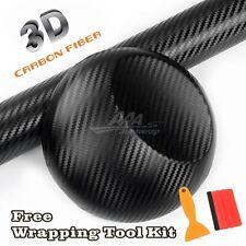 "24""x60"" 3D BLACK Carbon Fiber Texture Matte Vinyl Wrap Sticker Decal Film Sheet"