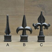VINTAGE CAST IRON FENCE POST SPEAR FINIALS TOPPERS CAP