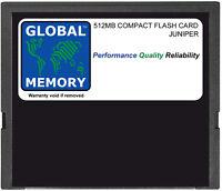 512MB COMPACT FLASH CARD MEMORY FOR JUNIPER J2300 / J4300 / J6300 (JX-CF-512M-S)