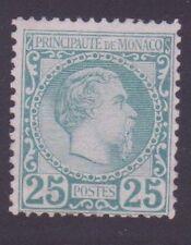 "MONACO N°6 ""CHARLES III 25c VERT "" NEUF xx TB, SIGNE"
