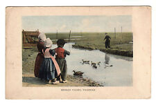 Eendjes Voeren Volendam - Photo Postcard c1913 / Holland