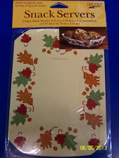 Autumn Leaves Fall Thanksgiving Holiday Theme Party Paper Tray Snack Servers *