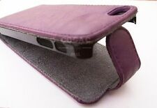 FUNDA CARCASA PIEL FORCELL PARA IPHONE 5G VIOLETA+PROTECTOR CUERO LEATHER