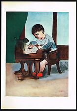1950s Original Vintage Abstract Boy Pablo Picasso Art Offset Lithograph Print
