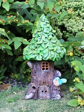 Solar para Jardín Decoración Grande Casa DE HADAS PIXIE Verde al aire libre Ornamento Estatua Hogar