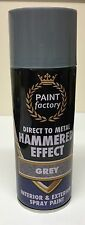 2 x Grey Hammer Effect Spray Paint Can Like Hammerite Metal Rust 400ml