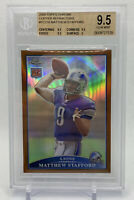 2009 Topps Chrome MATTHEW STAFFORD COPPER REFRACTOR /649 BGS 9.5 SUPER RARE MATT