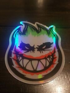 Holographic Joker STICKER - Spitfire wheels skate skateboard cell laptop  vinyl