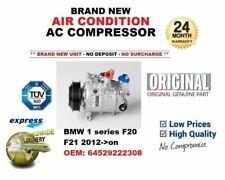 BMW 1 series F20 F21 2012-> ORIGINAL AIR CONDITIONING AC COMPRESSOR 64529222308