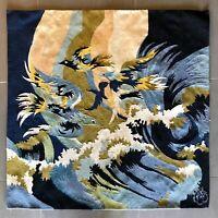 Belle tapisserie laine de type Aubusson, atelier Tunisie