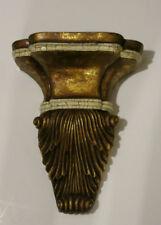 Large CORBEL / BRACKET  Gold Crackled Distressed Scroll