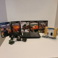 Sony Playstation PS2 Slim System Console Bundle SCPH-79001 1 controller 5 games