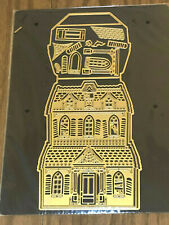 Anna Griffin HAUNTED HOUSE Easel Die with Magnet Storage Sheet NEW Halloween